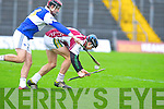 Causeway's Darren Leahy gets in front of Ardfert's David Griffin in the U21 hurling semi-final at Austin Stack, Tralee on Sunday.