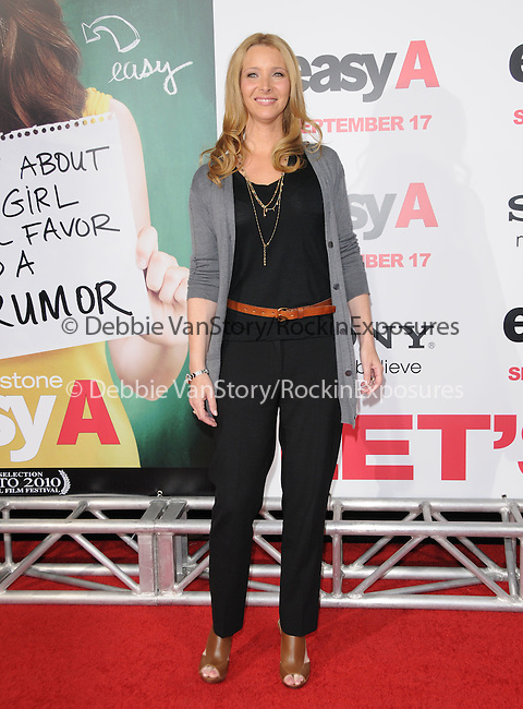 """Lisa Kudrow at the Screen Gems' L.A. Premiere of """"Easy A"""" held at The Grauman's Chinese Theatre in Hollywood, California on September 13,2010                                                                               © 2010 Hollywood Press Agency"""