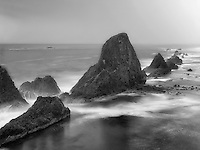 Rock formations at Seal Rock. Oregon