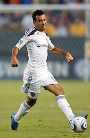 LA Galaxy midfielder Juninho (19) dribbles with the ball. The LA Galaxy and the San Jose Earthquakes played to a 2-2 draw at Home Depot Center stadium in Carson, California on Thursday July 22, 2010.