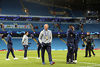FC Schalke 04 players and coaching staff inspect the pitch ahead of kick-off at The Etihad<br /> <br /> Photographer Rich Linley/CameraSport<br /> <br /> UEFA Champions League Round of 16 Second Leg - Manchester City v FC Schalke 04 - Tuesday 12th March 2019 - The Etihad - Manchester<br />  <br /> World Copyright &copy; 2018 CameraSport. All rights reserved. 43 Linden Ave. Countesthorpe. Leicester. England. LE8 5PG - Tel: +44 (0) 116 277 4147 - admin@camerasport.com - www.camerasport.com