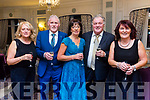 At the Austin Stacks Centenary Gala Dinner in the Rose Hotel on Saturday were Mandy Landers, Gary Landers, Teresa Hanafin, Tim Landers, Helen Fitzgibbon