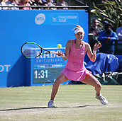 June 15th 2017, Nottingham, England; WTA Aegon Nottingham Open Tennis Tournament day 6;  Alison Riske of USA plays a forehand during her game against Magdalena Rybarikova of The Slovak Republic