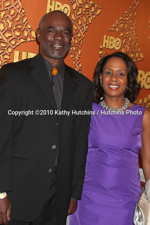 Glynn Turman & wife.arriving at the 67th Annual Golden Globe Awards Official HBO After Party.Beverly Hilton Hotel.Beverly Hills, CA.January 17, 2010.©2010 Kathy Hutchins / Hutchins Photo....