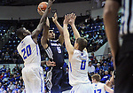 February 28, 2015 - Colorado Springs, Colorado, U.S. -  Utah State guard, Julion Pearre #5, shoots for an early score during an NCAA basketball game between the Utah State Aggies and the Air Force Academy Falcons at Clune Arena, U.S. Air Force Academy, Colorado Springs, Colorado.   Utah State defeats Air Force 74-60.
