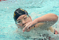 Villa Joseph Marie's Samantha O'Hara competes in the Girls 50 Freestyle during the Athletic Association of Catholic Academies Swim Championships Sunday February 14, 2016 at Upper Dublin High School in Upper Dublin, Pennsylvania. She finished 48th with a time of 33.91. (Photo by William Thomas Cain)