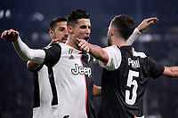 Miralem Pjanic of Juventus (R) celebrates with Cristiano Ronaldo after scoring the goal of 2-1 for his side <br /> Torino 19/10/2019 Allianz Stadium <br /> Football Serie A 2019/2020 <br /> Juventus FC - Bologna <br /> Photo Federico Tardito / Insidefoto