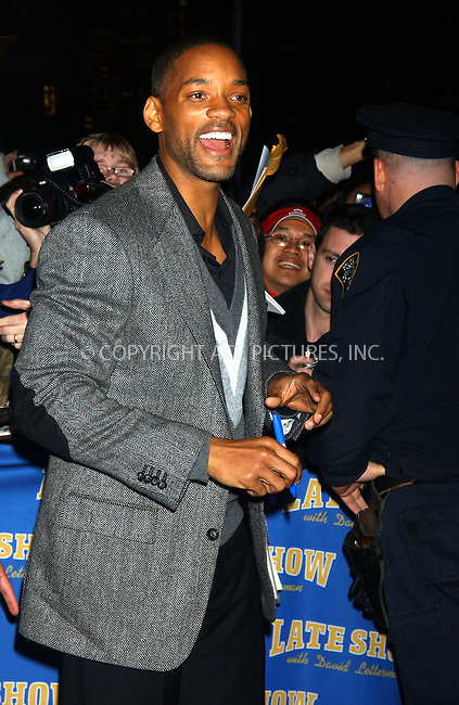 WWW.ACEPIXS.COM . . . . . ....December 14, 2006, New York City. ....Will Smith arrives at the 'Late Show with David Letterman' Studios. ....Please byline: KRISTIN CALLAHAN - ACEPIXS.COM.. . . . . . ..Ace Pictures, Inc:  ..(212) 243-8787 or (646) 769 0430..e-mail: info@acepixs.com..web: http://www.acepixs.com