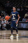 Zutorya Cook (2) of the Georgia Tech Yellow Jackets brings the ball up the court during second half action against the Wake Forest Demon Deacons at the LJVM Coliseum on January 22, 2017 in Winston-Salem, North Carolina.  The Demon Deacons defeated the Yellow Jackets 70-65 in overtime.  (Brian Westerholt/Sports On Film)