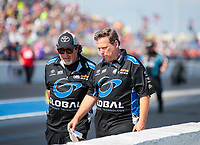 Sep 29, 2019; Madison, IL, USA; Crew members for NHRA funny car driver Shawn Langdon during the Midwest Nationals at World Wide Technology Raceway. Mandatory Credit: Mark J. Rebilas-USA TODAY Sports