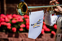 BALTIMORE, MD - MAY 19: The bugler plays the call to the post on Black-Eyed Susan Day at Pimlico Race Course on May 19, 2017 in Baltimore, Maryland.(Photo by Douglas DeFelice/Eclipse Sportswire/Getty Images)