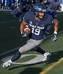 Nevada receiver Wyatt Demps (19) turns to run after making a catch against San Jose State in the second half of an NCAA college football game in Reno, Nev. Saturday, Nov. 11, 2017. (AP Photo/Tom R. Smedes)