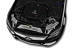 Car stock 2018 Mercedes Benz C Class Base 5 Door Wagon engine high angle detail view