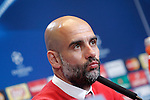 FC Bayern Munchen's coach Pep Guardiola in press conference  after Champions League 2015/2016 Semi-Finals 1st leg match. April 26,2016. (ALTERPHOTOS/Acero)