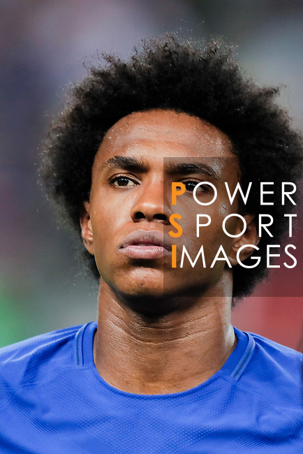Chelsea Midfielder Willian da Silva during the International Champions Cup match between Chelsea FC and FC Bayern Munich at National Stadium on July 25, 2017 in Singapore. Photo by Marcio Rodrigo Machado / Power Sport Images