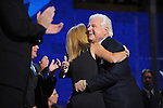 Senator Edward Kennedy embraces his niece, Caroline Kennedy, the daughter of former U.S. president John F. Kennedy, at the Democratic National Convention at the Pepsi Center in Denver, Colorado on August 25, 2008.