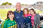 Kerry Fans at Fitzgerald StadiumTeresa, John and Anna Browne and Hannah Healy (Listowel).