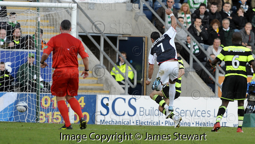 08/11/2009  Copyright  Pic : James Stewart.sct_jspa15_falkirk_v_celtic  . :: PEDRO MOUTINHO SCORES FALKIRK'S SECOND :: .James Stewart Photography 19 Carronlea Drive, Falkirk. FK2 8DN      Vat Reg No. 607 6932 25.Telephone      : +44 (0)1324 570291 .Mobile              : +44 (0)7721 416997.E-mail  :  jim@jspa.co.uk.If you require further information then contact Jim Stewart on any of the numbers above.........