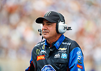 Jul 23, 2017; Morrison, CO, USA; NHRA track specialist Lanny Miglizzi during the Mile High Nationals at Bandimere Speedway. Mandatory Credit: Mark J. Rebilas-USA TODAY Sports
