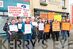 Bog Protest : Members of the North Kerry Turf Cutter & Contractors Association who were joined by protestors from Galway & Mayo to protest outside the office of Minister for the Arts, Heritage & the Gaeltach, Jimmy  Deenihan, TD on Saturday last.