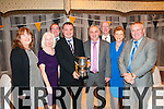 Asdee GAA Social: Pictured at the Asdee GAA social at The Listowel Arms Hotel on December 28th were Kathleen Carmody, Nodie Hennessy, Mark O'Hanlon, Padraigh Vallely, John Joe O'Carroll, John Kennedy, Aine Kennedy & Jack Hennessy.
