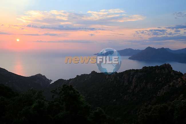 The beautiful island of Corsica hosts the first 3 stages of the 100th Edition of the Tour de France 2013, Corsica, France.<br /> 29th June 2013. <br /> (Photo:Eoin Clarke/www.newsfile.ie)
