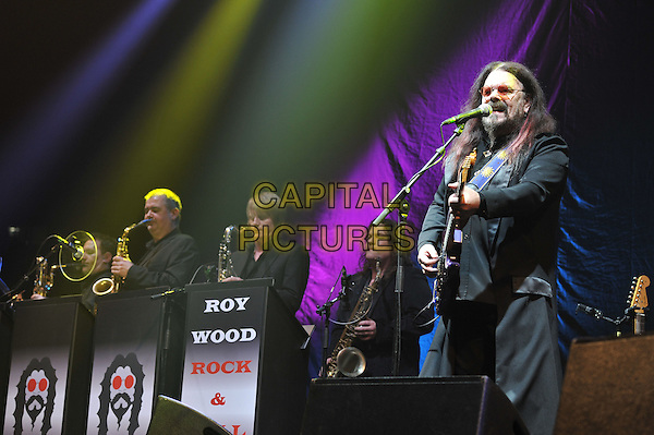 Roy Wood.performing live in concert, o2 Arena, Greenwich, London, England. .11th December 2011.on stage gig performance music half length black suit guitar beard facial hair glasses singing .CAP/MAR.© Martin Harris/Capital Pictures.