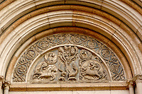 Detail of Baptistry Door  - Piazza Del Duomo - Parma Italy.