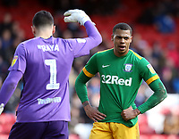 Blackburn Rovers' David Raya and Preston North End's Lukas Nmecha<br /> <br /> Photographer Rich Linley/CameraSport<br /> <br /> The EFL Sky Bet Championship - Blackburn Rovers v Preston North End - Saturday 9th March 2019 - Ewood Park - Blackburn<br /> <br /> World Copyright © 2019 CameraSport. All rights reserved. 43 Linden Ave. Countesthorpe. Leicester. England. LE8 5PG - Tel: +44 (0) 116 277 4147 - admin@camerasport.com - www.camerasport.com