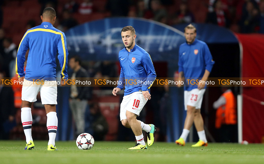 Jack Wilshere named on the Arsenal bench - Arsenal vs Napoli, Champions League Group F game at the Emirates Stadium, Arsenal - 01/10/13 - MANDATORY CREDIT: Rob Newell/TGSPHOTO - Self billing applies where appropriate - 0845 094 6026 - contact@tgsphoto.co.uk - NO UNPAID USE