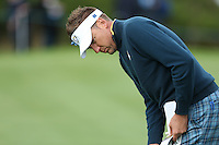 Ian Poulter (EUR) during the first practice day ahead of the 2014 Ryder Cup at Gleneagles, Perthshire, Scotland 26th to 28th September 2014. Picture David Lloyd / www.golffile.ie.