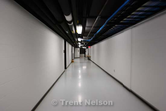 Hallway, AT&T Center, Jazz vs. San Antonio Spurs, NBA Western Conference Finals.