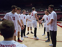 STANFORD, CA - January 5, 2019: Jordan Ewert at Maples Pavilion. The Stanford Cardinal defeated UC Santa Cruz 25-11, 25-17, 25-15.