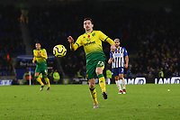 Kenny McLean of Norwich City during Brighton & Hove Albion vs Norwich City, Premier League Football at the American Express Community Stadium on 2nd November 2019