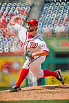 16 August 2017: Washington Nationals starting pitcher Tanner Roark on the mound against the Los Angeles Angels at Nationals Park in Washington, DC. The Angels defeated the Nationals 3-2 to split their 2-game series. Mandatory Credit: Ed Wolfstein Photo *** RAW (NEF) Image File Available ***