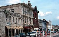Austin:  6th St., 19th Century Commercial Block. 1870's.