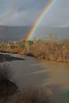 Rainbow over Russian River near Asti