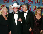 Larry Hagman with his wife, Patrick Duffy and Linda Grey ( DALLAS ).Attending CBS AT 75, a three hour entertainment extravaganza commemorating CBS's 75th Anniversary, which will be  broadcast live from the Hammerstein Ballroom at New York's Manhattan Center in New York City..November 2, 2003.