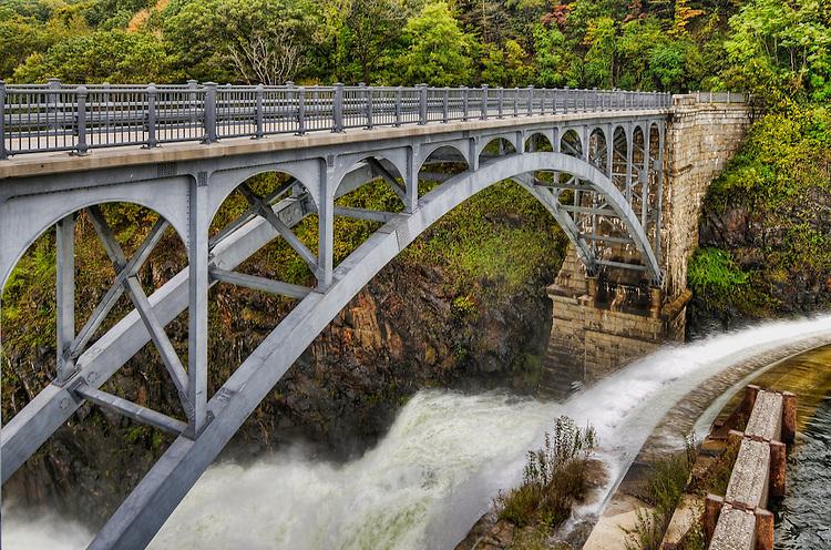 The bridge at the Croton Dam, Croton-on-Hudson, New York, after Tropical Storm Nicole
