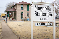 MAGNOLIA STATION<br /> <br /> The City of Vega has restored this historic filling station on Route 66.&nbsp; It was the second gas station to be built in Vega in the early 20's and located on what is now US Hwy 385 south of the Oldham County Courthouse.