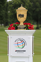 The Gary Player Trophy on the 18th green Sunday's Final Round of the WGC Bridgestone Invitational 2017 held at Firestone Country Club, Akron, USA. 6th August 2017.<br /> Picture: Eoin Clarke | Golffile<br /> <br /> <br /> All photos usage must carry mandatory copyright credit (&copy; Golffile | Eoin Clarke)