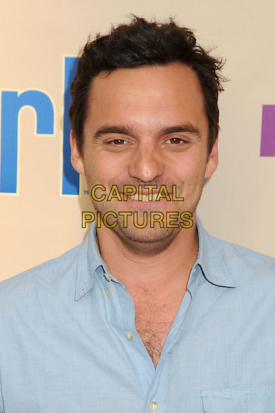 "Jake Johnson.""New Girl"" Screening and Q&A held at the Academy of Television Arts & Sciences..April 30th, 2013.headshot portrait blue shirt.CAP/ADM/BP.©Byron Purvis/AdMedia/Capital Pictures"