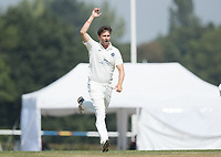 Tim Murtagh  of Middlesex CCC strikes early on day 4 during Middlesex CCC vs Hampshire CCC, Bob Willis Trophy Cricket at Radlett Cricket Club on 11th August 2020