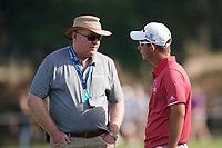 Referee in confrontation with Lucas Herbert (AUS)) during the third round of the Omega Dubai Desert Classic, Emirates Golf Club, Dubai, UAE. 26/01/2019<br /> Picture: Golffile | Phil Inglis<br /> <br /> <br /> All photo usage must carry mandatory copyright credit (© Golffile | Phil Inglis)