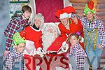 Santa Claus and Mrs Claus with l-r: Jonathon Lyne, Claire O'Sullivan, Frank Anderton, Orla O'Shea, Bernie O'Sullivan at the Christmas in Killarney winter wonderland in the Old Milk Market lane Killarney ........