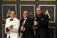 09 February 2020 - Hollywood, California - Josh Cooley, Mark Nielson, and Jonas Rivera attend  the 92nd Annual Academy Awards presented by the Academy of Motion Picture Arts and Sciences held at Hollywood & Highland Center. Photo Credit: Theresa Shirriff/AdMedia