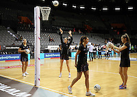 31.08.2016 Action during the Netball Quad Series match between the Silver Ferns and South Africa played at Claudelands Arena in Hamilton. Mandatory Photo Credit ©Michael Bradley.
