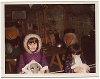 BNPS.co.uk (01202 558833)<br /> Pic: GillSeyfang/BNPS<br /> <br /> A picture of Gill (on the left) and her sister, Angie at a Womble Burrow exhibition at Morecambe in Lancashire,  December 1974.<br /> <br /> An environmentalist is selling the world's biggest Womble collection after the famous furry creatures inspired her to save the planet as a child.<br /> <br /> Gill Seyfang, a senior lecturer in Sustainable Consumption at the University of East Anglia, owns over 1,700 items relating the furry creatures.<br /> <br /> Her vast collection ranges from soft toys to rubbish bins and was recognised by the Guinness Book of Records in 2016.<br /> <br /> Ms Seyfang, from Norwich, Norfolk, began amassing the group in the 1970s and it has continued to grow ever since.