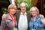 Listowel Writers Week : Rose Wall & Norella Moriarity photographed with author Colm Toibin in Listowel on Thursday last.