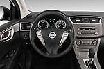 Car pictures of steering wheel view of a2014 Nissan Sentra SV 4 Door Sedan Steering Wheel